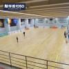 篮球馆运动木地板室内羽毛球 耐磨枫木A级地板厂家直销