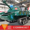 一步一個脚印 儿童游乐坦克车 大型迷彩仿真坦克 雪地坦克车