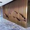 餐厅包柱弧形铝方通_异形铝方通定制_墙身波浪形铝方通厂家