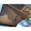 缅甸珠宝商城装饰造型铝方通_波浪造型铝方通吊顶_木纹弧形铝方通吊顶