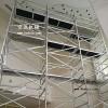 可移动单宽直爬梯灵活组装 斜爬铝合金脚手架厂家方便拆装