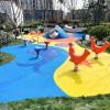 山东奥美佳塑胶篮球场  塑胶地面  硅pu篮球场 幼儿园EPDM橡胶地板