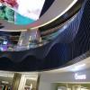 商场定制弧形铝格栅吊顶 黑色弧形铝方通