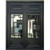 新中式门窗  复古铝合金门窗 悬挂式中式凹弧形门窗 支持来尺寸设计画图定制厂家直销