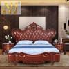 金明豪海棠木实木欧式1.8米双人床主卧大床真皮婚床原木美式大床