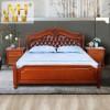 金明豪床床美式1.8m婚床卧室海棠木实木现代美式实木床配套床头柜