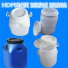 蜂蜜糖浆桶50公斤 优质食品级油桶-白蓝油桶50l圆方桶