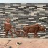 广州仿铜浮雕雕塑 玻璃钢农耕主题人物浮雕牌
