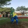 广州体育主题雕塑 玻璃钢运动跑步人物雕塑