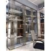 生产客厅装饰金属柜定制不锈钢展示柜架
